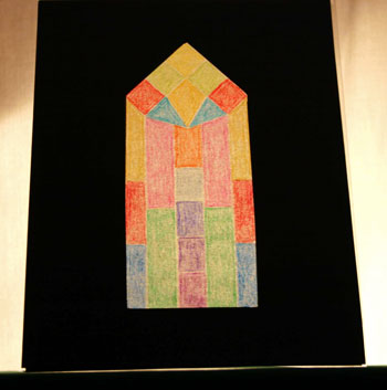 Easy paper crafts faux stained glass window 1