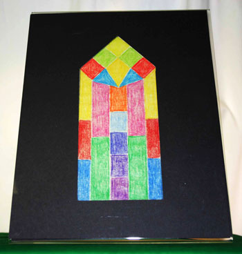 Easy paper crafts faux stained glass window acrylic frame