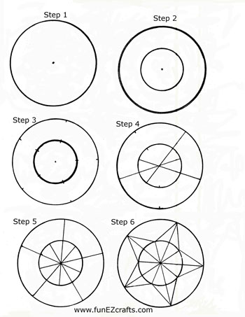 Easy paper crafts five point star six how to make steps