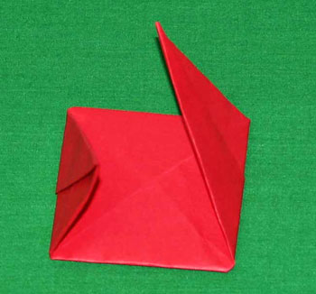 Easy paper crafts folded box ornament step 11