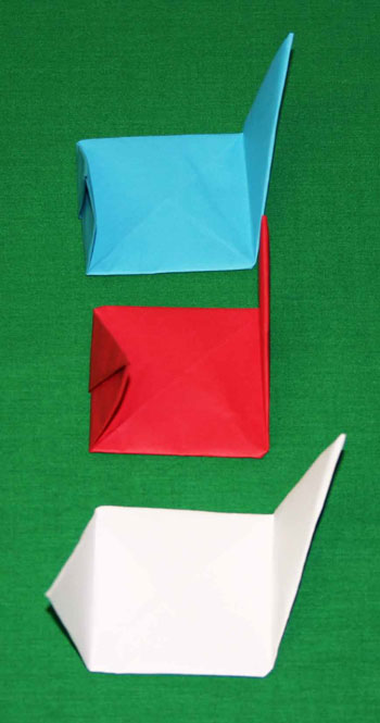 Easy paper crafts folded box ornament step 12