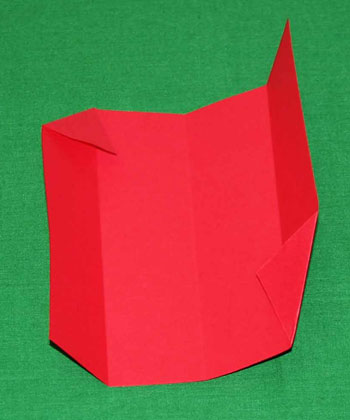 Easy paper crafts folded box ornament step 4