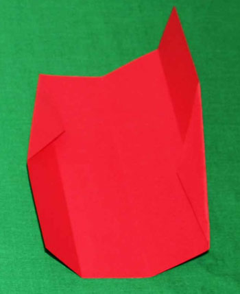 Easy paper crafts folded box ornament step 5b