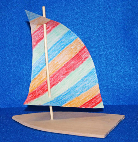 Easy paper crafts sailboat balsa wood