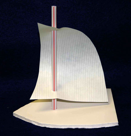 Easy paper crafts sailboat foam core