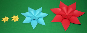 Easy paper crafts seven point star examples