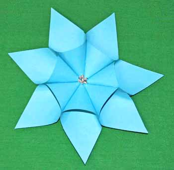 Easy paper crafts seven point star step 10