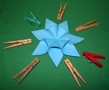 Easy paper crafts seven point star step 9