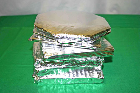 Frugal fun crafts aluminum foil trivet finished examples stacked