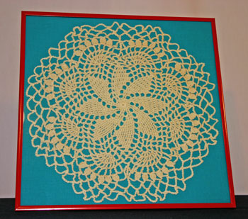 Frugal fun crafts framed doily finished