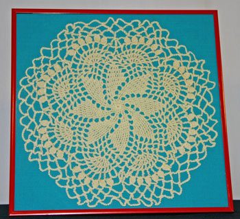 Frugal fun crafts framed doily finished and beautiful