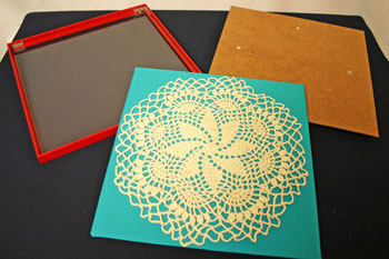 Frugal fun crafts framed doily prepare frame