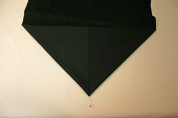 Frugal fun crafts handkerchief wall hanging fold to make a point