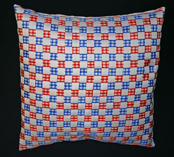 Frugal fun crafts woven ribbon pillow finished