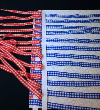 Frugal fun crafts woven ribbon pillow add second weave