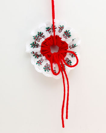 Lace & Seam Binding Flower Ornament