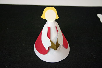 Easy Angel Crafts - Paper Cone Angel - add full hair to back of head