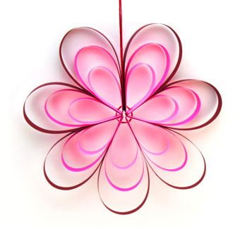 Paper Strips Flower