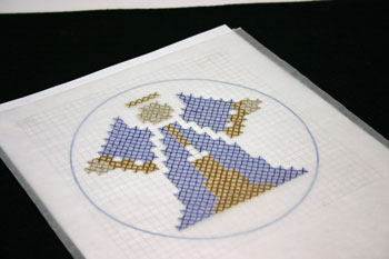 Easy Angel Crafts - Pen-Pencil Cross Stitch Angel vary colors using pattern