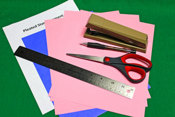 Pleated Five-Point Star materials and tools