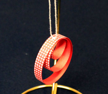 Easy Christmas crafts Ribbon Circles Ornament finished