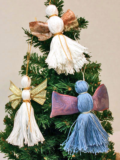 Easy Angel Crafts - Three Yarn Angels