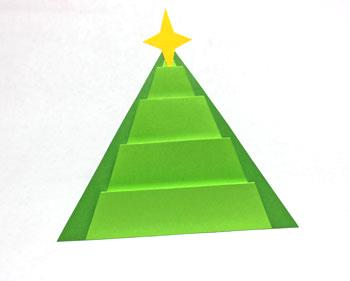 Art Deco Paper Christmas Tree finished in bright green