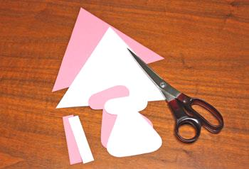 Art Deco Paper Christmas Tree step 1 cut background shapes