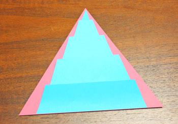Art Deco Paper Christmas Tree step 14 position folds