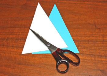 Art Deco Paper Christmas Tree step 2 cut front triangle