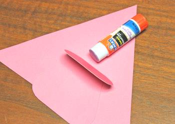 Art Deco Paper Christmas Tree step 5 apply glue to easel