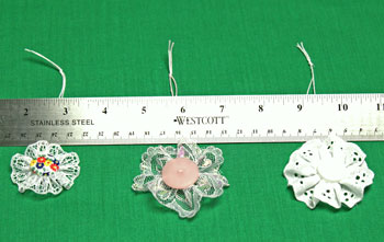 Button and Lace Ornament three different sizes