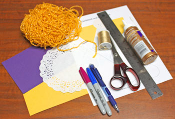 Cardstock and Doily Angel materials and tools