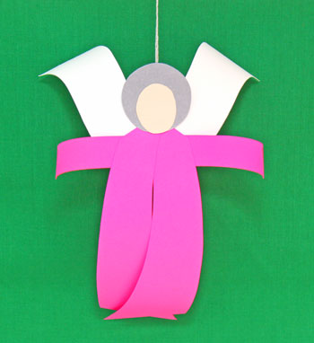 Curved Paper Angel