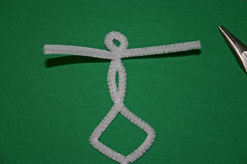 Easy Christmas crafts tiny dancer attach wire for arms