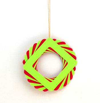 Eight Squares Wreath Ornament
