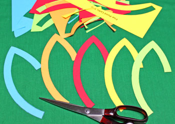 Five Point Celtic Star step 1 cut shapes