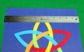 Five Point Celtic Star step 6 center on background
