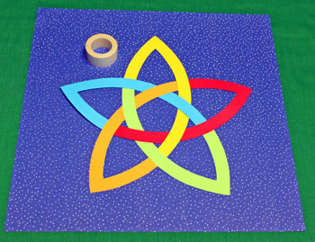 Five Point Celtic Star step 7 attach shape to background