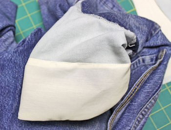 repaired jeans pocket