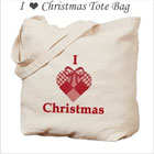 I Heart Christmas Tote Bag on the funEZ Bazaar