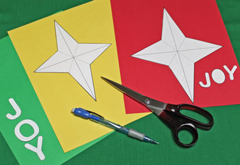 Joyful Star Ornament step 1 cut around pattern pieces