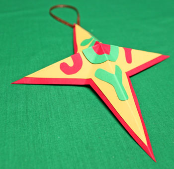 Joyful Star Ornament step 10 re-fold star