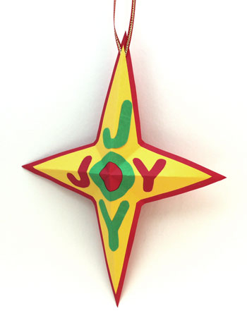 Joyful Star Ornament step 11 hang to display