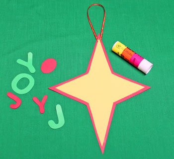 Joyful Star Ornament step 4 glue stars together