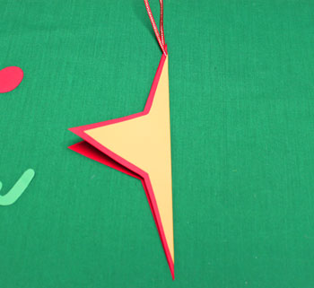 Joyful Star Ornament step 5 fold star lengthwise
