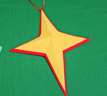 Joyful Star Ornament step 8 folded star