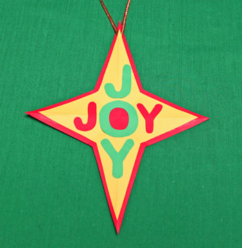 Joyful Star Ornament step 9 glue letters