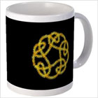 Golden Leprechaun Path Celtic Mug from funEZ Bazaar