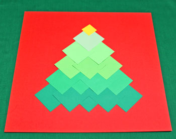 Ombre Squares Christmas Tree step 10 add star